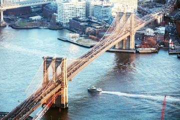 Elevated View Of Brooklyn Bridge © Andrey Popov