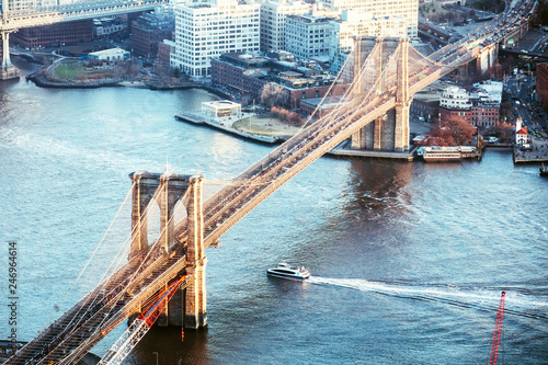 Elevated View Of Brooklyn Bridge - 246964614