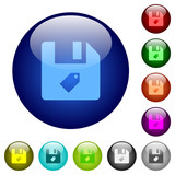 Tag file color glass buttons