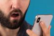 emotion surprise on phone