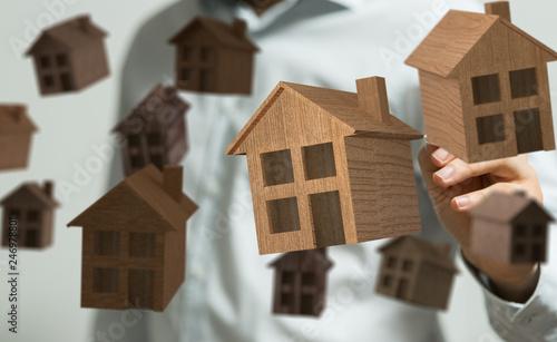 Leinwandbild Motiv purchase house