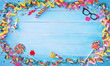 Leinwanddruck Bild - Colorful carnival or birthday background