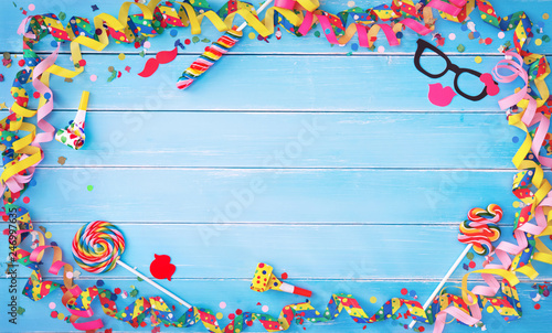 Leinwanddruck Bild Colorful carnival or birthday background