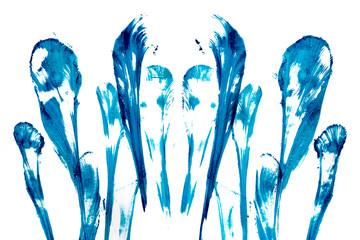 Абстрактные синии всполохи.