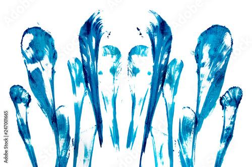 Абстрактные синии всполохи. - 247001665