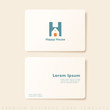 Corporate Logo Design and Business Card Template : Vector Illustration
