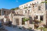 Hausruinen auf der Insel Spinalonga auf Kreta - 247024456