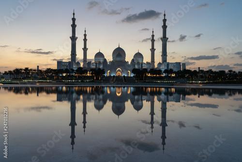 Leinwandbild Motiv Abu dhabi grand mosque, United arabic emirates