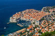 Leinwandbild Motiv Overview to the old town of Dubrovnik, Croatia.