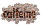 Caffeine with image of coffee beans and highlighted text Caffeine - 247053683