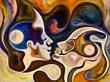 Leinwanddruck Bild - Metaphorical Inner Colors