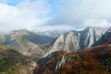 Mountains with beech forests in the north of Spain.