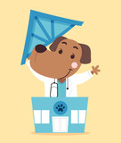 Dog Doc Vet Clinic Illustration