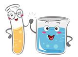 Mascot Test Tube Beaker Friends Illustration - 247082227