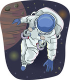 Astronaut Outer Space Illustration - 247082279