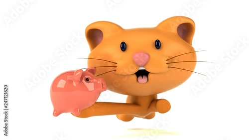 Fun cat running - 3D Animation