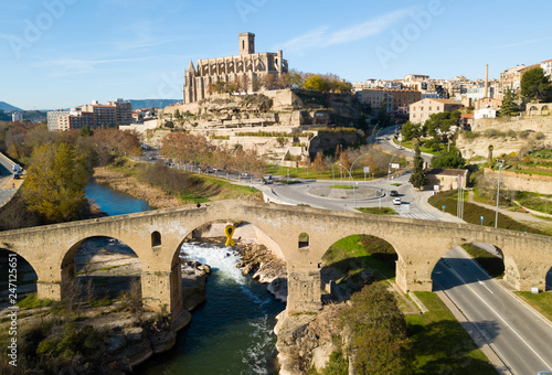 fototapeta na ścianę Collegiate Basilica of Santa Maria in Manresa, Spain