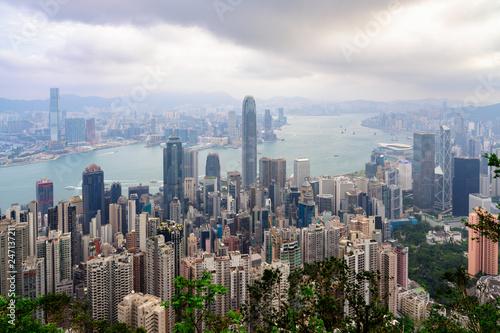 fototapeta na ścianę Hong Kong view from Victoria Peak