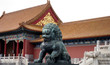 statue of a chinese lion