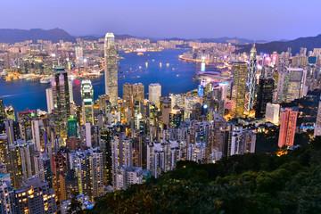 香港 ビクトリアピークからの夜景