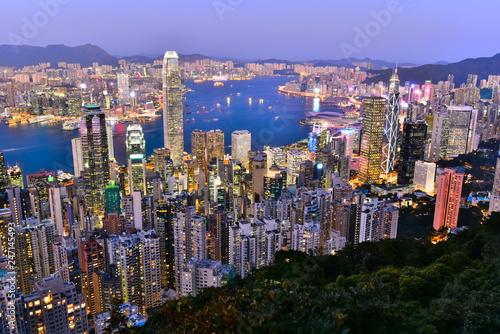 fototapeta na ścianę 香港 ビクトリアピークからの夜景