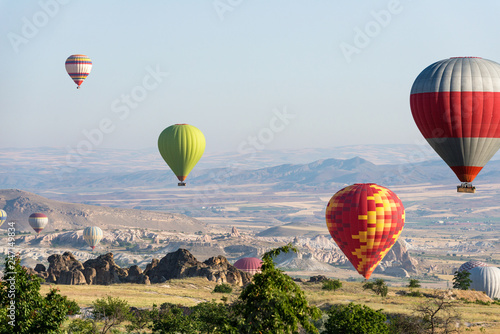 Colorful hot air balloons - 247149834