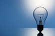 canvas print picture - light bulb isolated