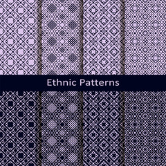 set of eight seamless vector ethnic patterns. seamless template in swatch panel © lenazol