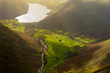 Late Afternoon Sunlight In The Wasdale Valleys, Lake District, UK. - 247181004