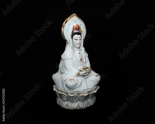 Avalokiteshvara (Bodhisattva & Buddhist Deity) - Padmapani (Lotus Holder) statue © TruongGiang