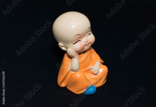 monk boys statues no talk - no think - no see - no hear  © TruongGiang