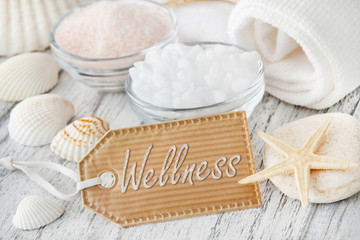 Wellness - Muscheln und Salz