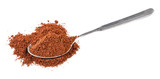 pile of freshly ground coffee in spoon isolated - 247209298