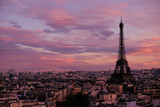 The Eiffel Tower during Sunset