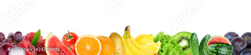 Collage of mixed fruit and vegetable - 247219898