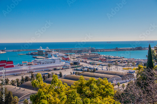 fototapeta na ścianę colorful panorama of the Spanish city of Barcelona, views of the city