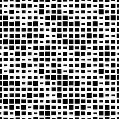 Halftone seamless abstract background with squares. Infinity geometric pattern. Vector illustration.