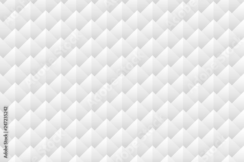 fototapeta na ścianę Triangle and of fish scale seamless pattern gray background. Vector illustration