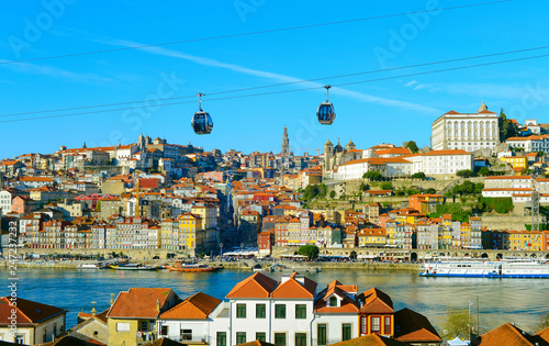 Leinwandbild Motiv  Porto Old Town cable car