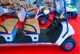 Golf car. Electric car. Electric car for the hotel.