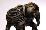 statuette of an elephant from sandalwood