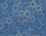chaotic grey abstract patterns on a blue background