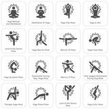 Yoga Fitness and Meditation Icon Set. Flat Design Isolated Illustration. - 247255665