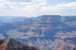 Closeup view of far edge of Grand Canyon