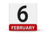 Cubes calendar 6th February