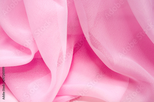 Texture chiffon fabric pink color for backgrounds - 247265899