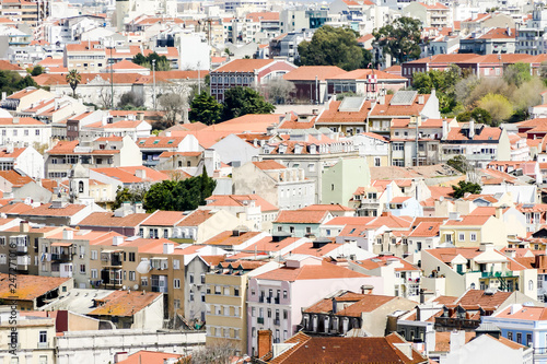 aerial view of the city in Lisbon Capital City of Portugal - 247271016