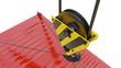 Leinwanddruck Bild - Crane hook isolated