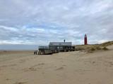 Texel beach with the lighthouse