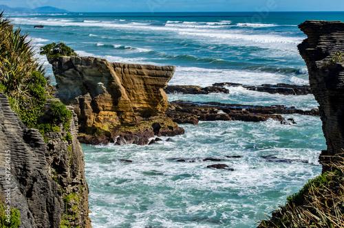 Pancake Rocks, Punakaiki, Nouvelle-Zélande © Cyril